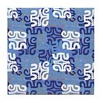 Swanky Mo Blues Tile Coaster