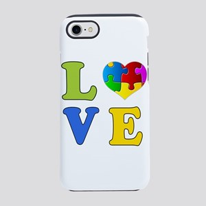 Love Autism 1 iPhone 8/7 Tough Case