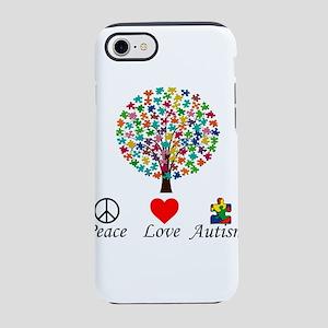 Tree Peace Love Autism iPhone 8/7 Tough Case