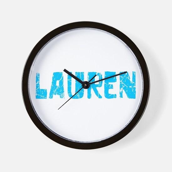 Lauren Faded (Blue) Wall Clock