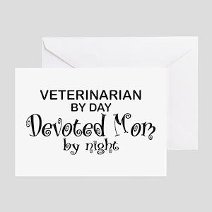 Vet Devoted Mom Greeting Cards (Pk of 10)