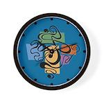 Smokey Joe Blue Wall Clock