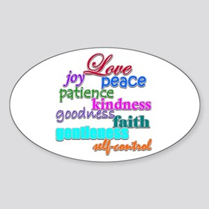 Fruit of the Spirit Oval Sticker