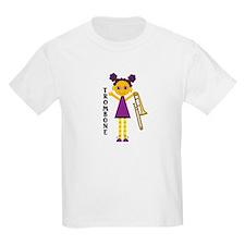 Trombone Girl Kids Light T-Shirt