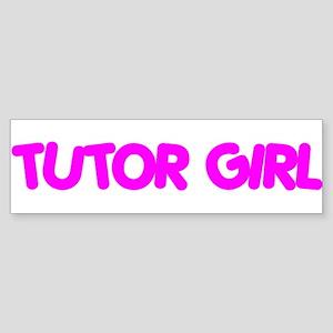 """Tutor Girl"" Bumper Sticker"
