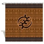 Adinkra Modern Mudcloth Design Shower Curtain