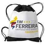 Tim 2018 - Timnado Landscape - Grey Drawstring Bag