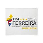 Tim 2018 - Timnado Landscape - Grey Throw Blanket
