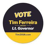 Tim 2018 - Vote Round Car Magnet