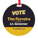 Tim 2018 - Vote Round Ornament