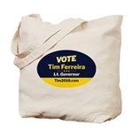 Tim 2018 - Vote - Oval Tote Bag