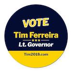 Tim 2018 - Vote - Circle Round Car Magnet