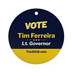 Tim 2018 - Vote - Circle Round Ornament