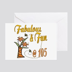 Floral 105th Greeting Card