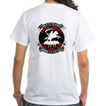 White T-Shirt Giant Patch Front & Back