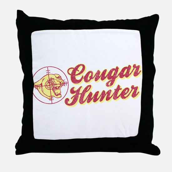 Cougar Hunter Throw Pillow