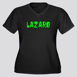 Lazaro Faded (Green) Women's Plus Size V-Neck Dark