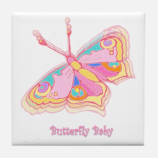 Butterfly Baby Tile Coaster