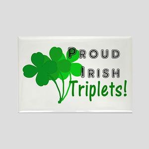 Proud Irish Triplets Rectangle Magnet