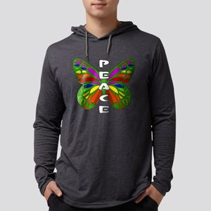 Peace Butterfly Mens Hooded Shirt