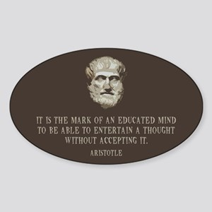 Aristotle Educated Mind Sticker