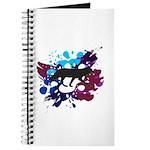 Splattered Paint Wolf - Journal