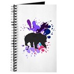 Splattered Paint Bear Thingy Journal