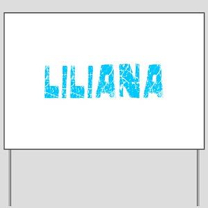 Liliana Faded (Blue) Yard Sign