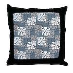 Swanky Mo Graphite Throw Pillow