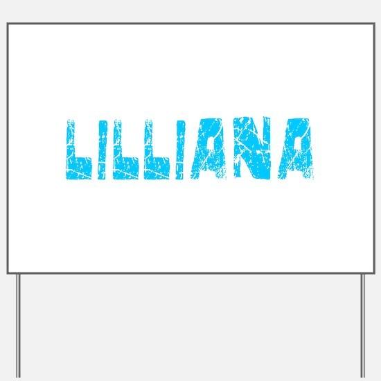 Lilliana Faded (Blue) Yard Sign