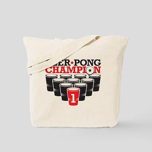 Beer Pong Champion Tote Bag