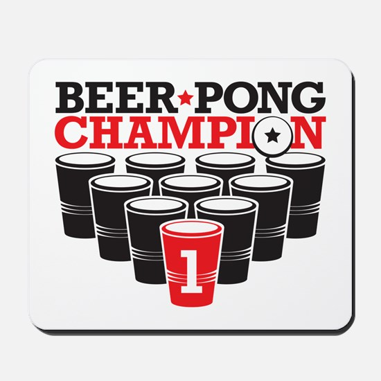 Beer Pong Champion Mousepad