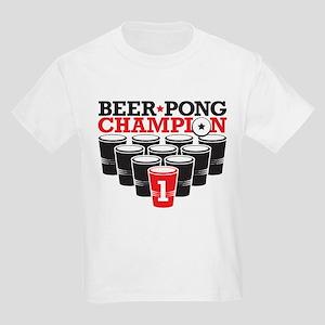 Beer Pong Champion Kids Light T-Shirt