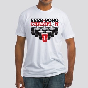 Beer Pong Champion Fitted T-Shirt