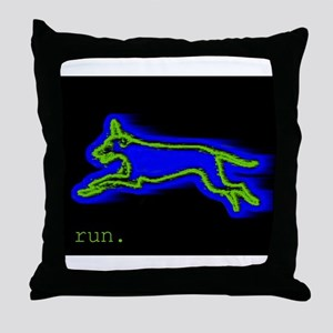 Run Dog Throw Pillow