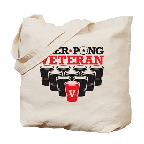 Beer Pong Veteran Tote Bag