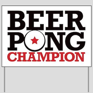 Beer Pong - Champion Yard Sign