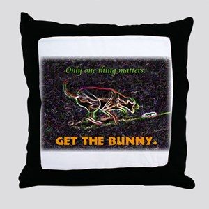 Lure course/bunny Throw Pillow