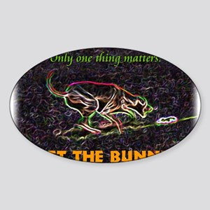 Lure course/bunny Oval Sticker