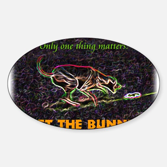 Lure course/bunny Oval Decal