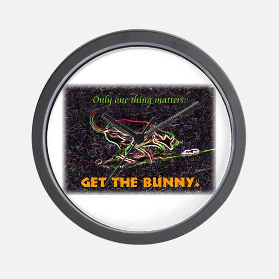 Lure course/bunny Wall Clock
