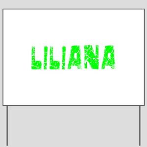 Liliana Faded (Green) Yard Sign