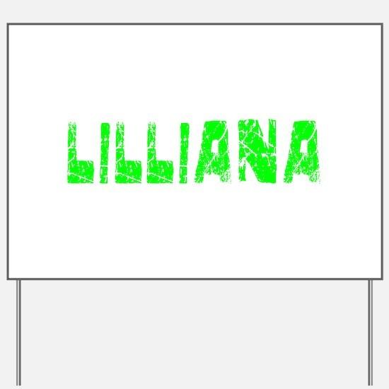 Lilliana Faded (Green) Yard Sign