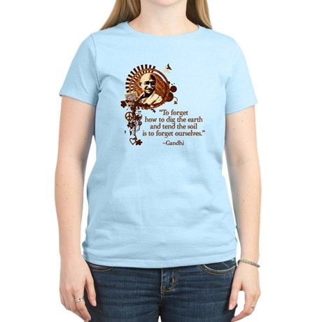Funky Gandhi-Dig the Earth Women's Light T-Shirt