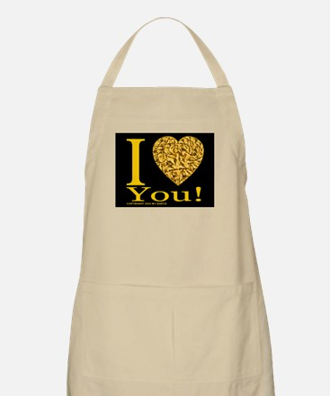 I (Heart) You BBQ Apron