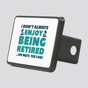 Enjoy Being Retired Rectangular Hitch Cover