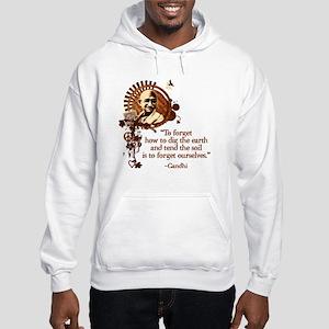 Funky Gandhi-Dig the Earth Hooded Sweatshirt