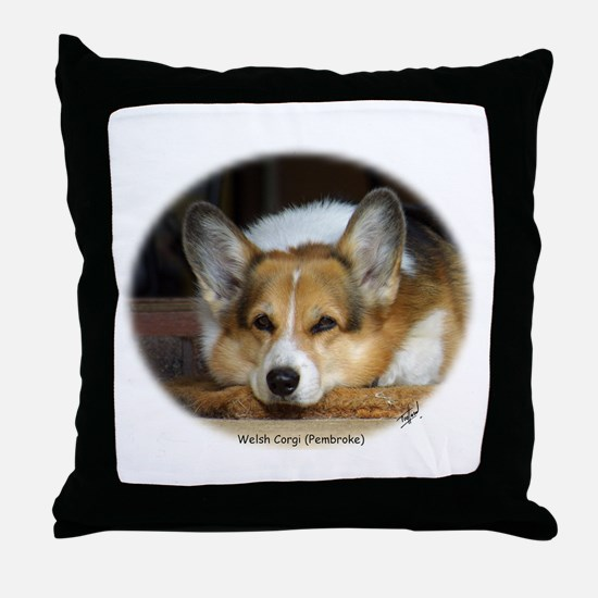 Welsh Corgi (Pembroke) Throw Pillow