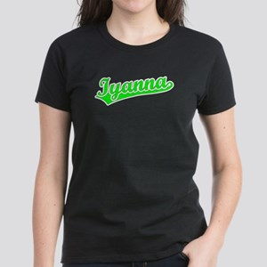 Retro Iyanna (Green) Women's Dark T-Shirt