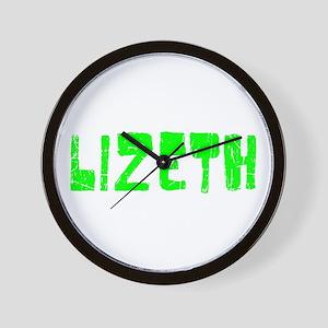Lizeth Faded (Green) Wall Clock